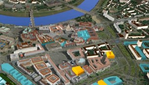 3D-Stadtmodell für Dresden