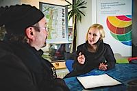 """Katja Großer mit ihrem Beratungsangebot """"Kreativ arbeiten - Mit Erfolg!"""""""