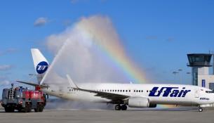 UTair beim Erstflug