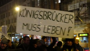 Demonstration Köngisbrücker