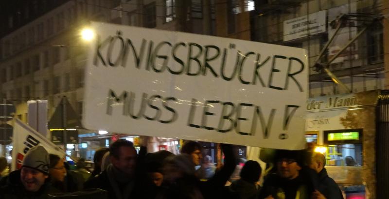 Demonstration Köngisbrücker