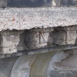 Schäden an der Albertbrücke: Korrosion der Bewehrung.