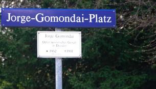 Der Jorge-Gomondai-Platz in Dresden.