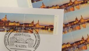 Die Briefmarken Dresden - Elbpanorama.
