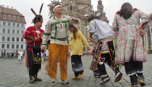 Indianer besuchen die Karl May Festtage
