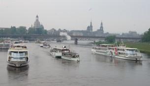 Die Dampferparade der Sächsischen Dampfschiffahrt