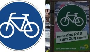 grüne fahrrad plakat