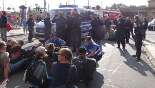 NPD Demo Blockade