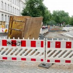 Baustelle Schandauer Straße