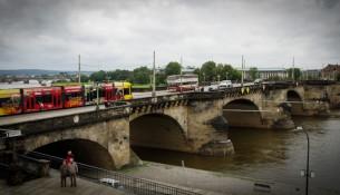 Die Augustusbrücke in Dresden.