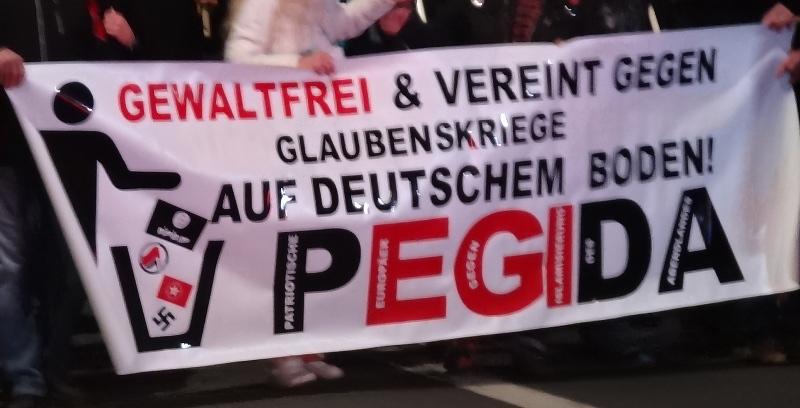 pegida demo poster