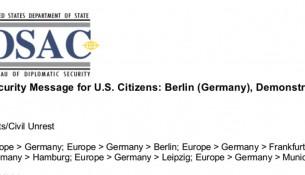 US State Departement Reisewarnung