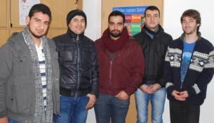 Karsten Dietze und Anas, Munir, Majd, Ahmad