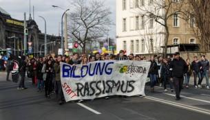 Demo Bildung statt Rassismus