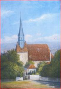 """Gemälde """"Dorfkirche Plauen"""""""