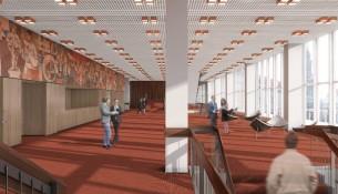 Kulturpalast Foyer richtung Osten