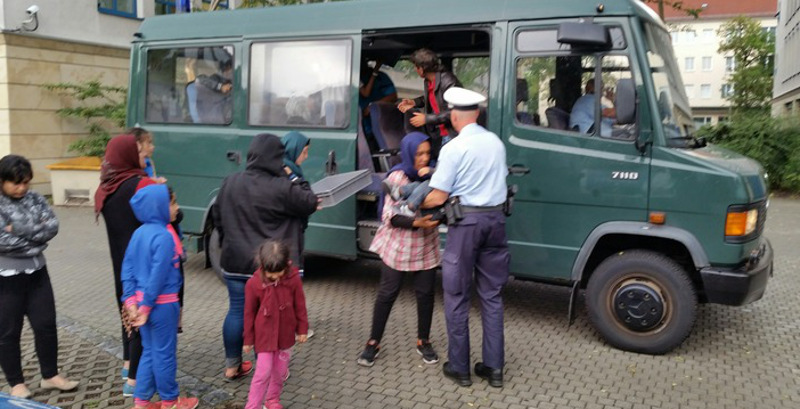 Eine irakische Großfamilie traf im August auf dem Hauptbahnhof ein. Foto: BP Dresden
