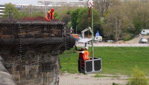 Augustusbrücke Stahlnetze 0205