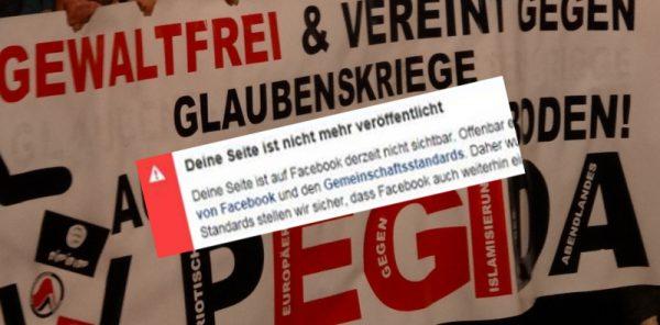 pegida facebook abgeschaltet