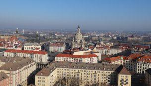 Frauenkirche Dresden vom Rathausturm